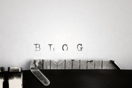 """Blog"" in alter Typographie"