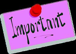 """""""Important"""" Schriftzug"""