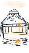 Zeichnung von Kinderbett