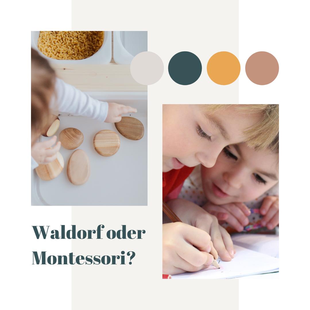 Alternative Erziehungspädagogik: Montessori und Waldorf